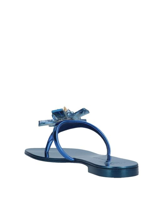 b1a032ce459b ... Giuseppe Zanotti - Blue Toe Strap Sandal - Lyst ...