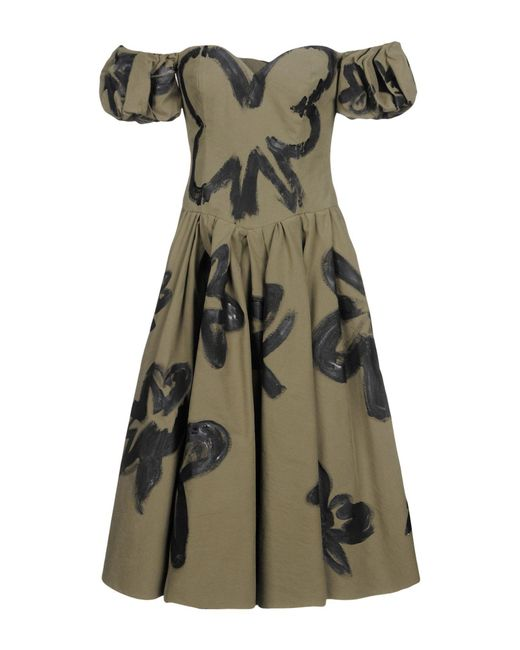 Moschino - Green Knee-length Dress - Lyst