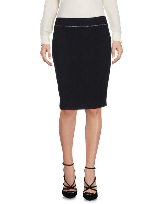 Armani Jeans | Black Knee Length Skirt | Lyst