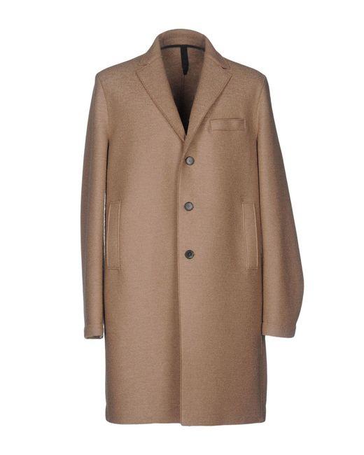 Harris Wharf London - Natural Overcoat for Men - Lyst