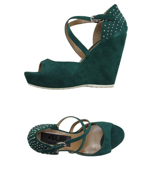 Cesare Paciotti   Green Sandals   Lyst