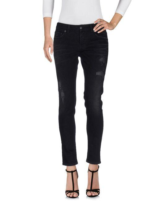 Department 5 - Black Denim Trousers - Lyst