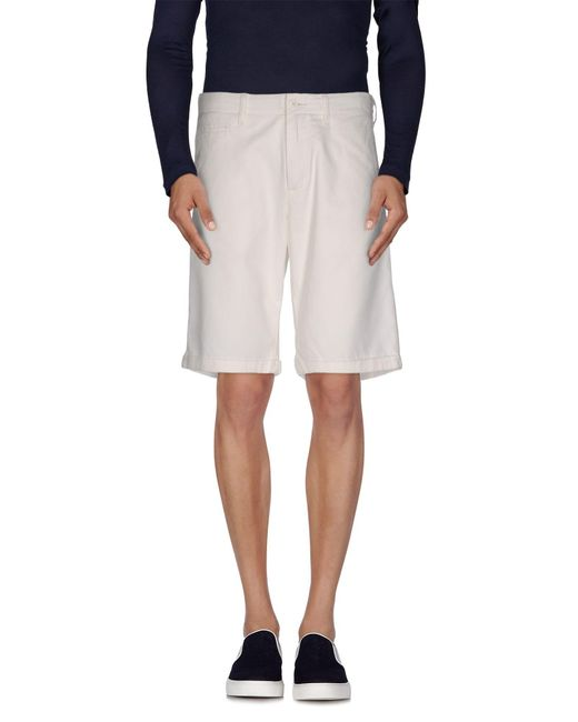 Woolrich - White Bermuda Shorts for Men - Lyst