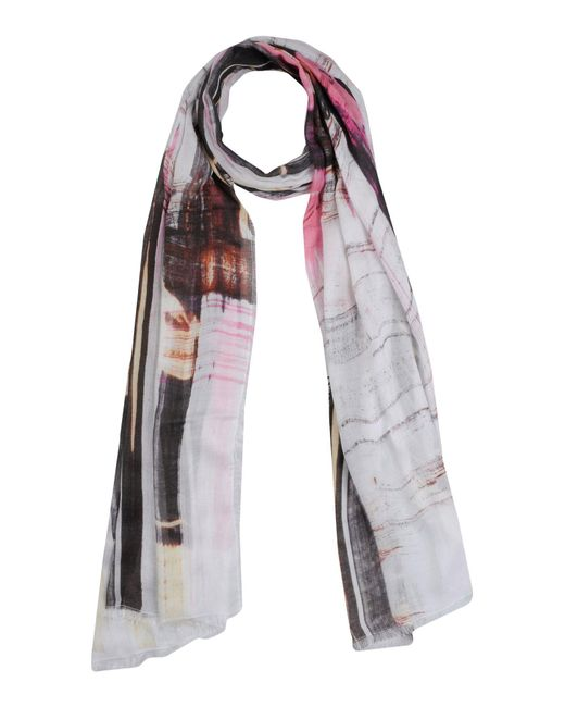 French Connection - White Scarves - Lyst