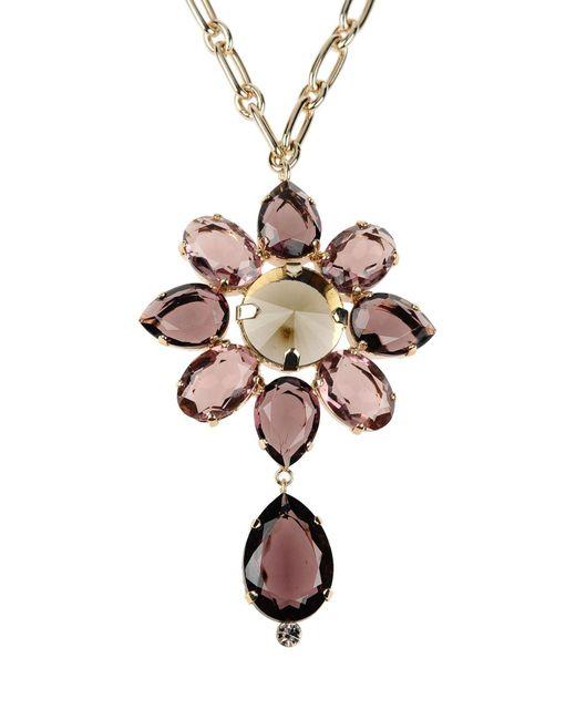 Alberta Ferretti - Purple Necklace - Lyst
