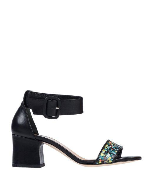 Emanuela Passeri - Black Sandals - Lyst