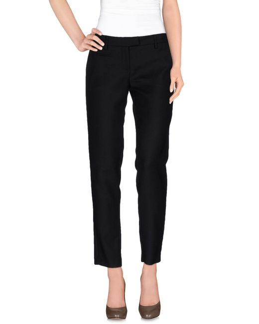 Malloni - Black Casual Pants - Lyst