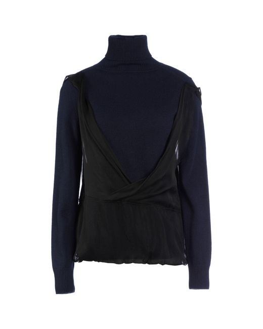 Dries Van Noten - Blue Turtleneck - Lyst