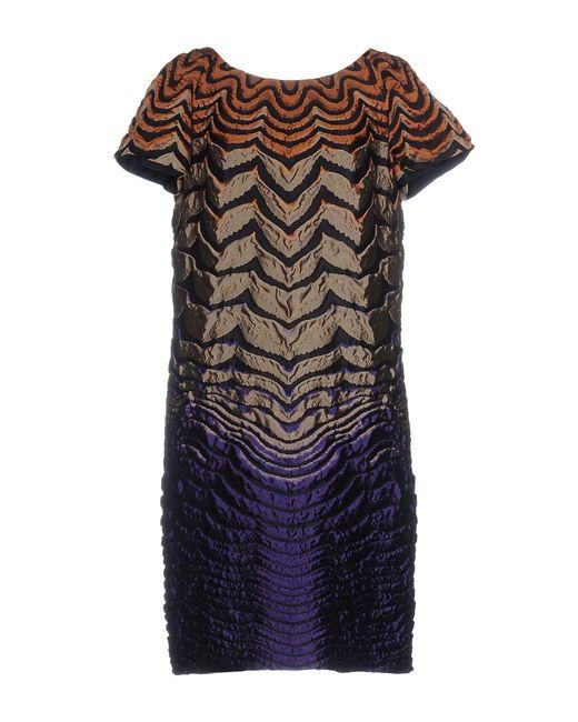 Alberta Ferretti - Multicolor Short Dress - Lyst