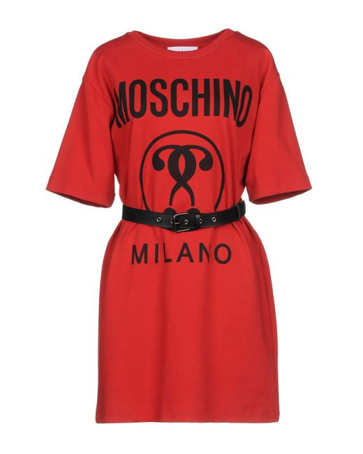 Moschino - Red Short Dresses - Lyst