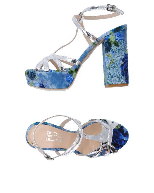 Divine Follie - Metallic Sandals - Lyst