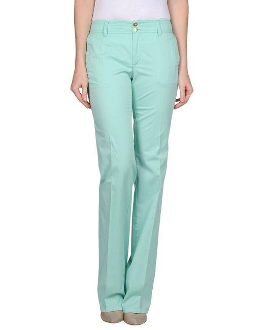 Caractere - Green Casual Pants - Lyst