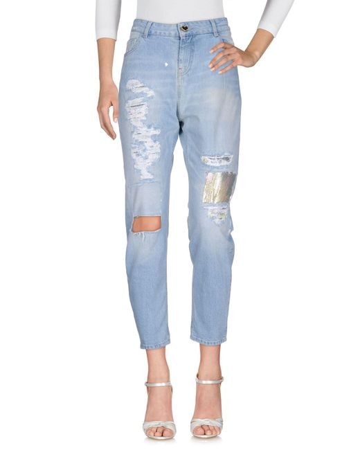 Twin Set - Blue Jeanshose - Lyst