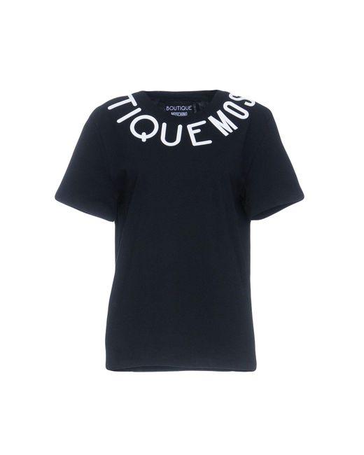 Boutique Moschino - Black T-shirt - Lyst