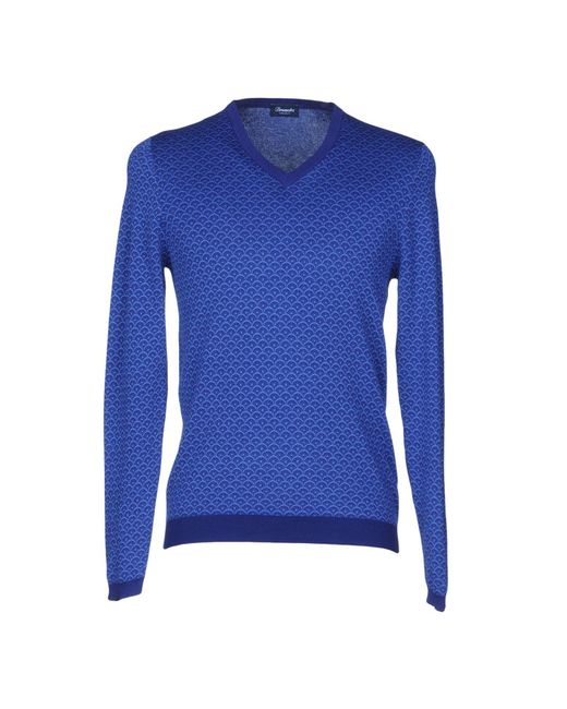Drumohr - Blue Sweaters for Men - Lyst