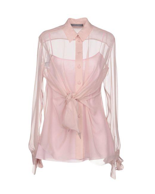 Alberta Ferretti - Pink Shirts - Lyst