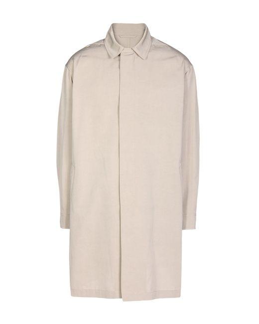 Lanvin - Natural Overcoat for Men - Lyst