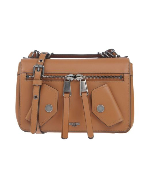 Moschino - Brown Cross-body Bags - Lyst