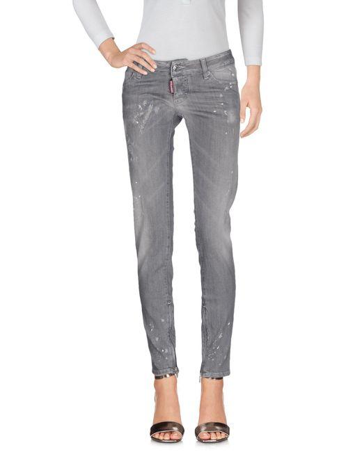 DSquared² Gray Denim Trousers