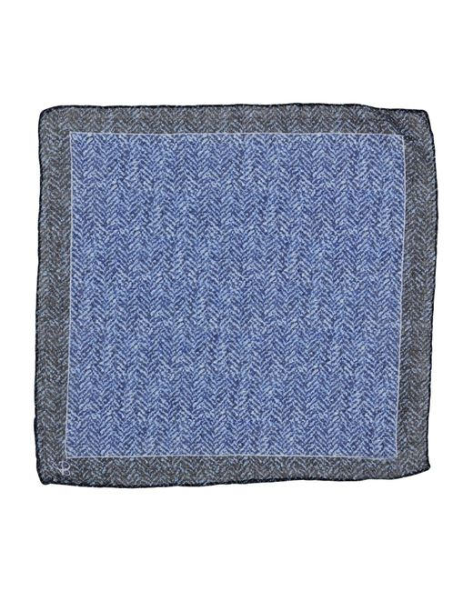 Canali | Blue Square Scarf for Men | Lyst