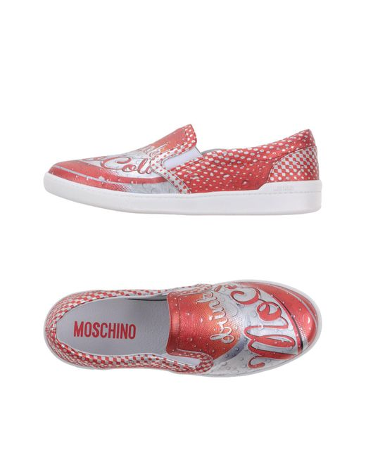 Moschino - Red Low-tops & Sneakers for Men - Lyst