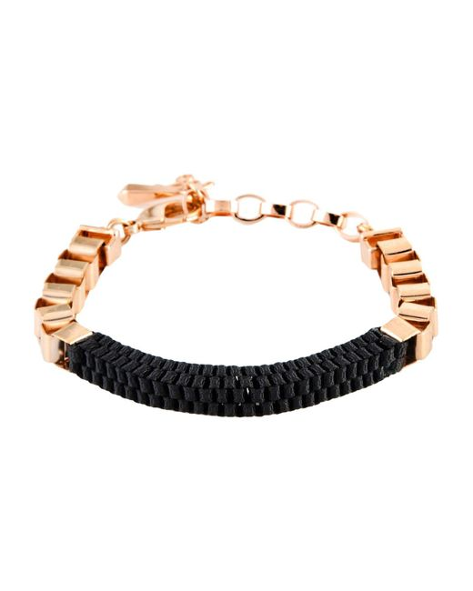 John & Pearl - Black Bracelet - Lyst