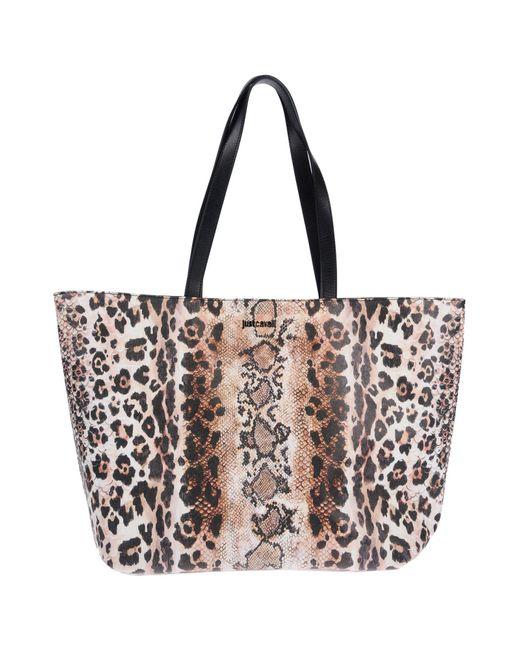 Just Cavalli - Natural Shoulder Bag - Lyst