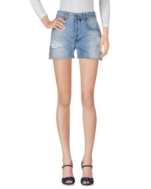 TRUE NYC - Blue Denim Shorts - Lyst