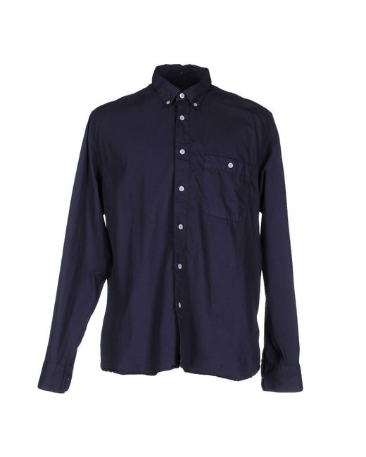 YMC - Blue Shirt for Men - Lyst