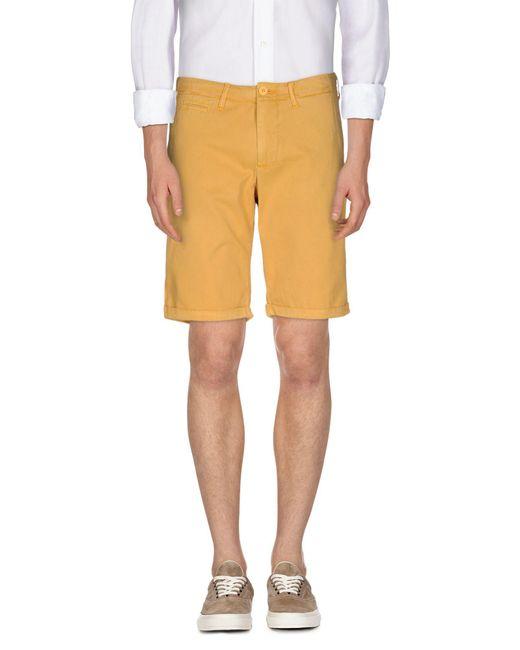 Woolrich - Yellow Bermuda for Men - Lyst
