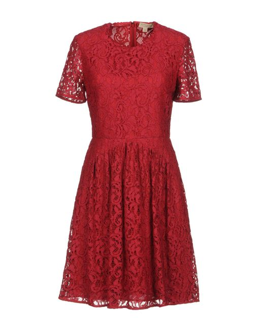 Burberry - Red Short Dresses - Lyst