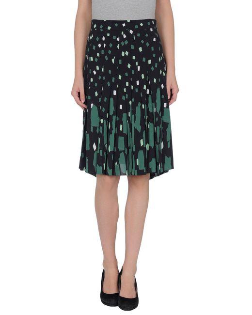 Vionnet - Black Knee Length Skirt - Lyst