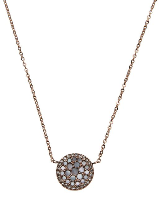 Fossil | Metallic Necklaces | Lyst