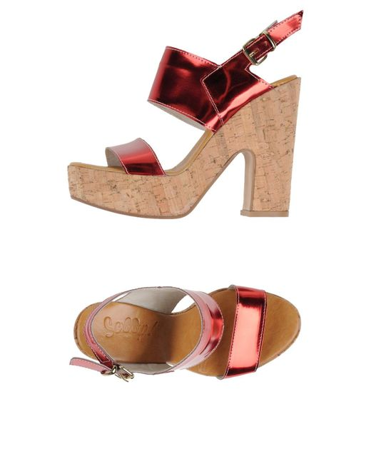 Scoop - Red Sandals - Lyst