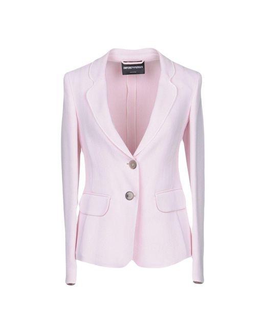 Emporio Armani - Pink Blazer - Lyst