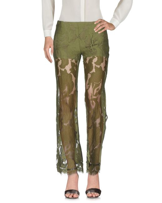 Guess - Green Casual Trouser - Lyst