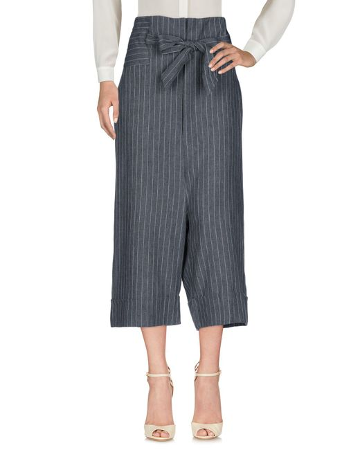 Malloni - Gray 3/4-length Trousers - Lyst