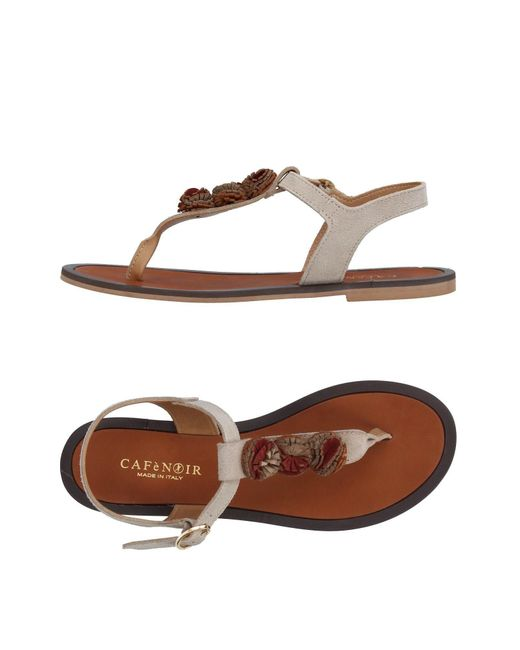 CafeNoir - Natural Toe Post Sandal - Lyst