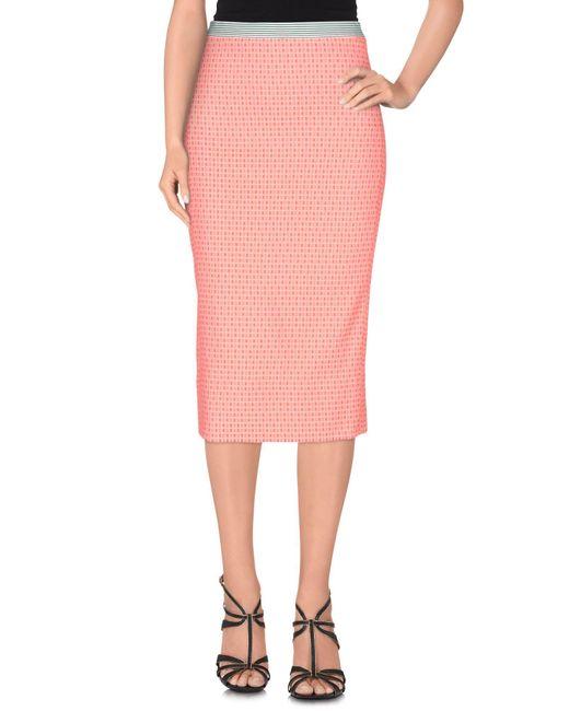 Teresa Dainelli - Pink 3/4 Length Skirt - Lyst