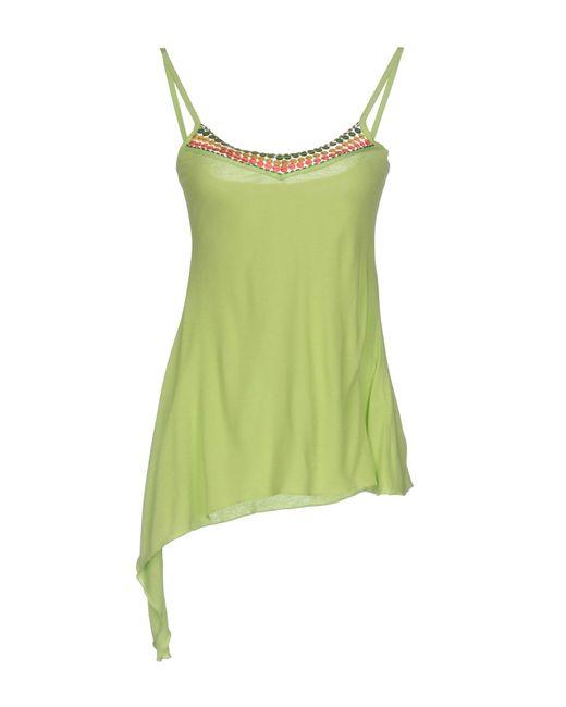 Blu Byblos - Green Top - Lyst