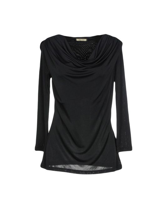 Angelo Marani - Black T-shirt - Lyst