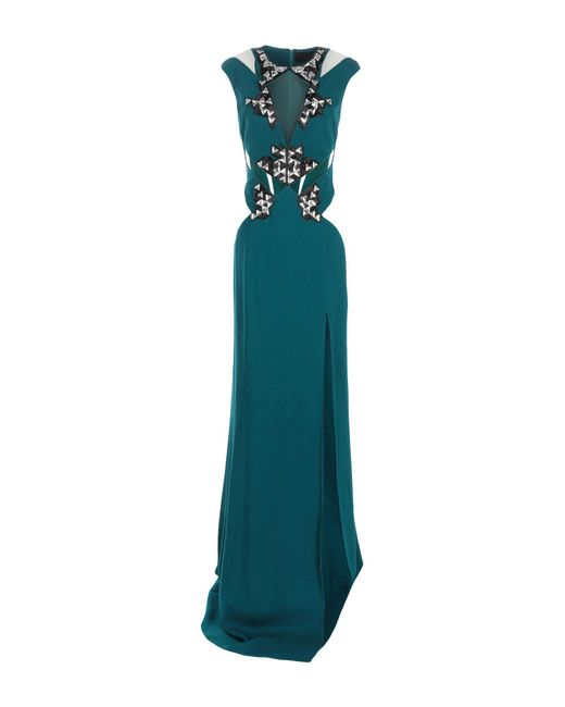Philipp Plein Green Long Dress Lyst