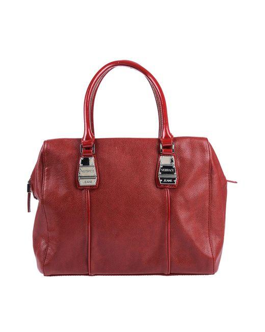 Versace Jeans Red Handbag
