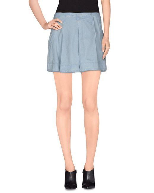 O'2nd - Blue Denim Skirt - Lyst