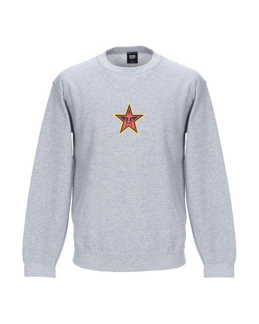 Obey - Gray Sweatshirt for Men - Lyst