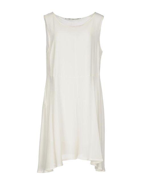 Fairly - White Short Dress - Lyst