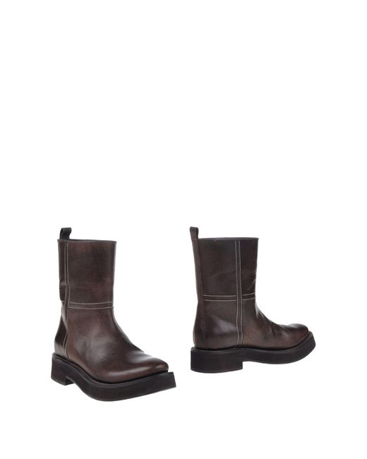 Brunello Cucinelli - Brown Ankle Boots - Lyst