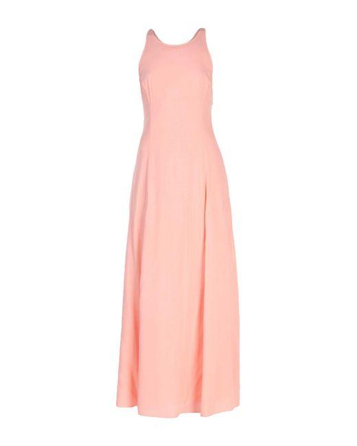 Armani Jeans - Pink Long Dress - Lyst