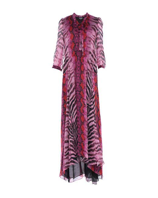 Just Cavalli Purple Long Dress