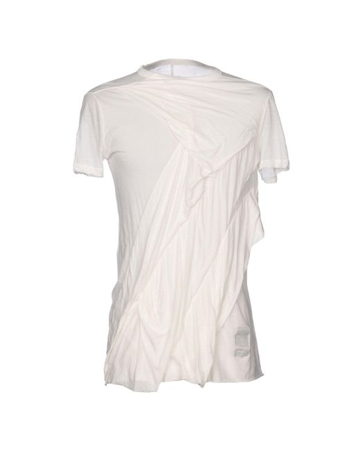 DRKSHDW by Rick Owens - White T-shirts for Men - Lyst